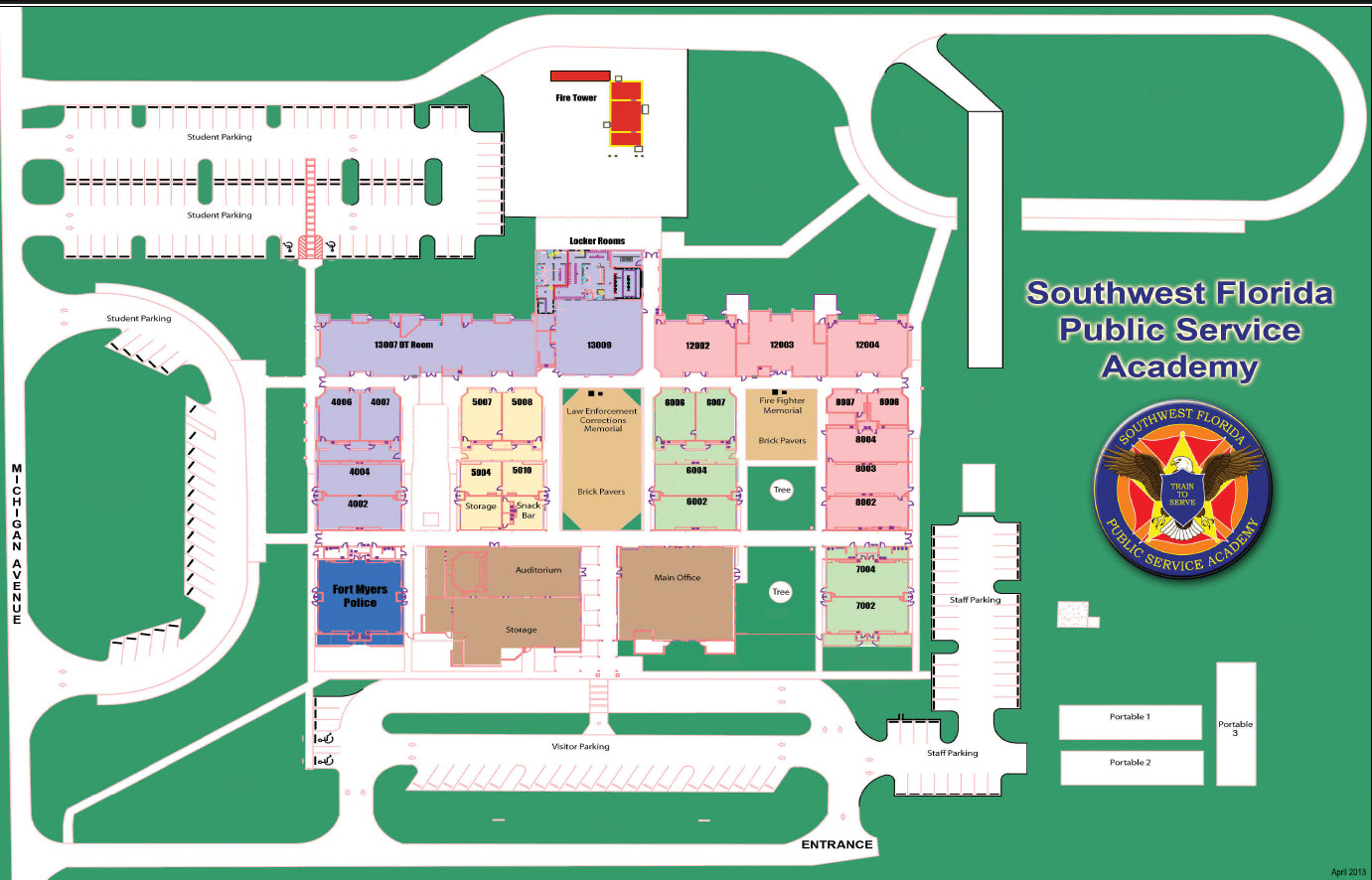 School Campus Map.Campus Maps Fort Myers Technical College